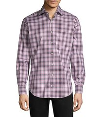 crown woodville plaid button-down shirt