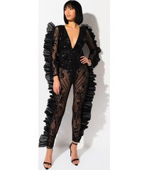 akira see you in my dream ruffle jumpsuit