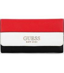 billetera negro-blanco-rojo guess