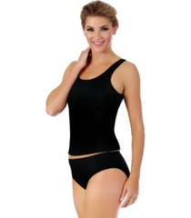 instantfigure swimwear tankini top with super slimming control and wide straps women's swimsuit