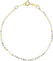 white bead classic gigi bracelet