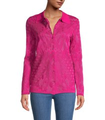 m missoni women's textured long-sleeve shirt - pink - size 40 (4)