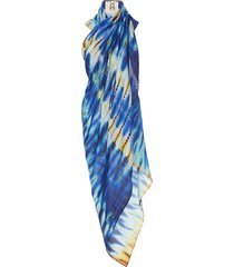 tie-dyed cotton-voile pareo