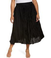 plus size women's halogen satin skirt, size 2x - black