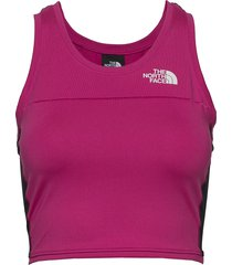 w at tanklette t-shirts & tops sleeveless rosa the north face