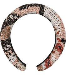 missoni crochet-knit headband - black