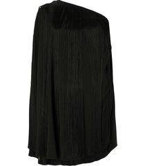 single sleeve fringed dress