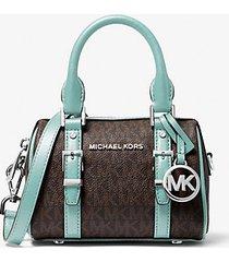 mk borsa a tracolla bedfordlegacy extra small con logo - fair aqua - michael kors