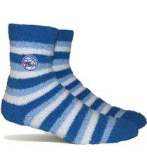 stance women's philadelphia 76ers fuzzy steps socks