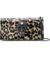 philipp plein leopard-print shoulder bag - neutrals