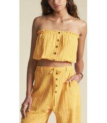 blusa s/m springrays amarillo billabong