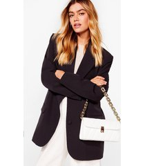 womens want change my mind quilted shoulder bag - white