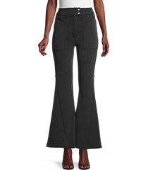 free people movement women's 2-pocket bootcut pants - black - size 8