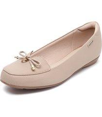 zapato plano beige modare