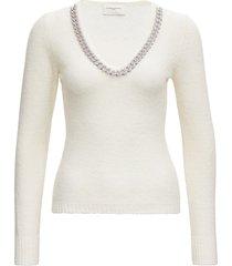 giuseppe di morabito cashmere blend sweater with chain neckline
