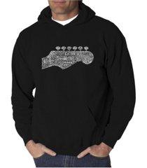 la pop art men's word art hooded sweatshirt - guitar head