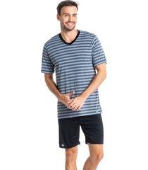 pijama masculino curto listrado eduardo