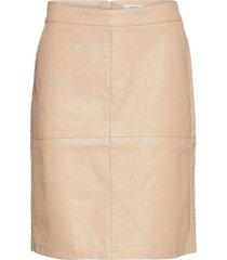 sc-gunilla knälång kjol beige soyaconcept