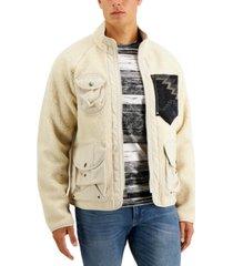 sun + stone men's reano mixed-media jacket, created for macy's