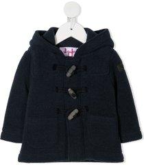 il gufo wool duffle coat - blue