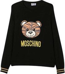 moschino black teen sweater