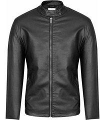 chaqueta con cremallera en contraste slim fit para hombre 95893