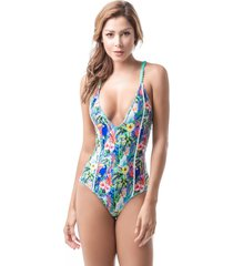 vestido de baño estampado mar de rosas mar de guacamaya