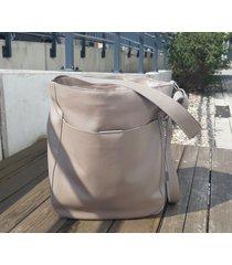 boska taupe - duża skórzana torba