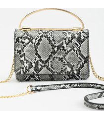 atoya top handle crossbody handbag - gray