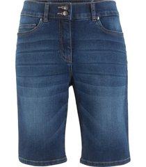 bermuda push-up in jeans dritti (blu) - bpc bonprix collection