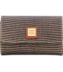 dooney & bourke lizard-embossed flap wallet