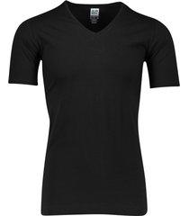 alan red t-shirt zwart v-hals oxford silver ion
