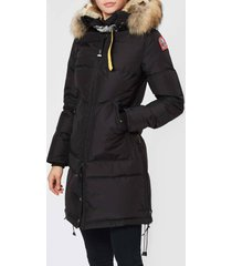 parajumpers women's long bear coat - black - l
