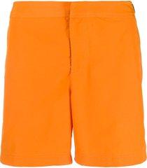 orlebar brown side buckle swim shorts - orange
