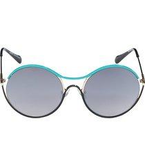 balmain women's 52mm round sunglasses - blue