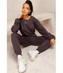 mix & match edition sweat jogger jumpsuit, washed black