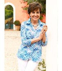 blouse paola lichtblauw::salie
