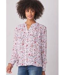 zijden blouse met paisley-print