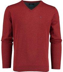 bos bright blue pullover v-hals rood katoen 20305vi01bo/677 wine red