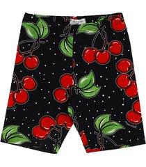 monnalisa cherries cotton jersey leggings