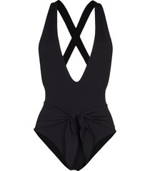 juillet georgia tie-waist swimsuit - black
