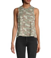 alternative women's flowy muscle tank top - light moss camo - size xs