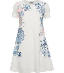 vest charlotte jurk knielengte wit desigual