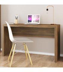 mesa escrivaninha me4135 nogal - tecno mobili