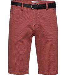 aop chino shorts w?. belt shorts chinos shorts röd lindbergh
