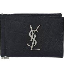 logo plaque bifold wallet