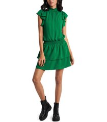 1.state smocked mock-neck dress