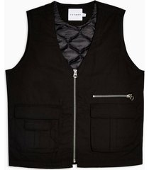 mens black organic cotton vest
