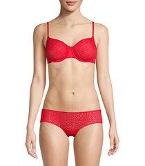 mesh-lined bra