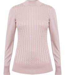 sweater ash rosa - calce ajustado